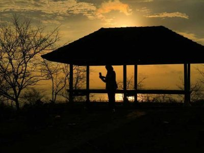 Sunset Gunung Ujung Kemalik Jerowaru Lombok Timur